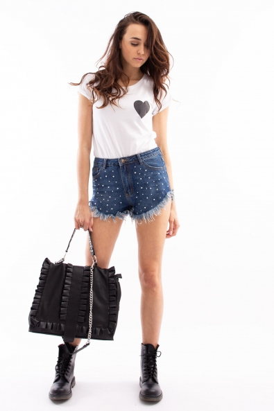 SHORTS JEANS STRASS